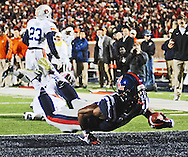 Ole Miss' running back I'Tavius Mathers (5) scores vs. Auburn at Vaught-Hemingway Stadium in Oxford, Miss. on Saturday, November 1, 2014. (AP Photo/Oxford Eagle, Bruce Newman)