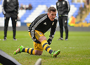 Fulham forward Ross McCormack warming up during the Sky Bet Championship match between Reading and Fulham at the Madejski Stadium, Reading, England on 5 March 2016. Photo by Adam Rivers.