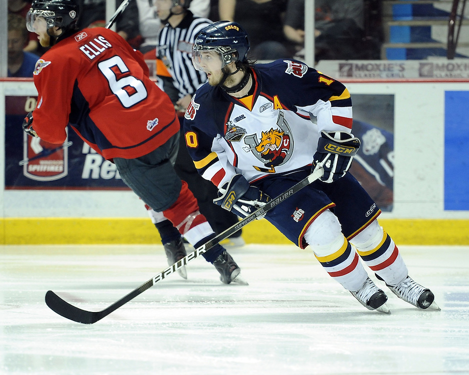 Alex Hutchings of the Barrie Colts in Game 4 of the 2010 Rogers OHL Championship Series in Windsor on Tuesday May 4. Photo by Aaron Bell/OHL Images