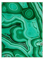 Malachite lid detail.