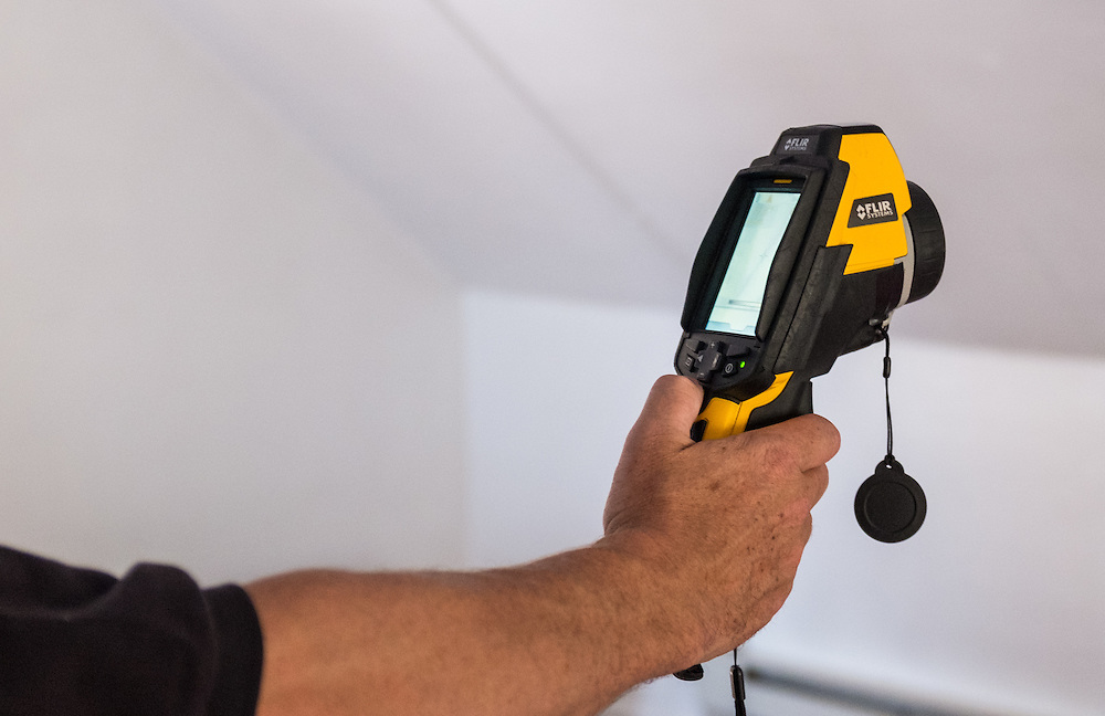 A thermal camera is used during an energy audit at 86 West State Street on Wednesday, June 24, 2015.  Photo by Ohio University  /  Rob Hardin