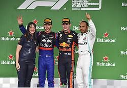 November 17, 2019, Sao Paulo, Brazil: Motorsports: FIA Formula One World Championship 2019, Grand Prix of Brazil, . #10 Pierre Gasly (FRA, Red Bull Toro Rosso Honda), .#33 Max Verstappen (NLD, Aston Martin Red Bull Racing), .#44 Lewis Hamilton (GBR, Mercedes AMG Petronas Motorsport) (Credit Image: © Hoch Zwei via ZUMA Wire)