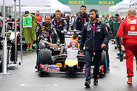 Sebastian Vettel (GER) Red Bull Racing RB10 on the grid.<br /> Japanese Grand Prix, Sunday 5th October 2014. Suzuka, Japan.