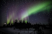 Strong display of multicolored northern lights. (Photo by Travel Photographer Matt Considine)