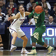 STORRS, CONNECTICUT- NOVEMBER 17: Alexis Jones #30 of the Baylor Bears defended by Kia Nurse #11 of the UConn Huskies during the UConn Huskies Vs Baylor Bears NCAA Women's Basketball game at Gampel Pavilion, on November 17th, 2016 in Storrs, Connecticut. (Photo by Tim Clayton/Corbis via Getty Images)