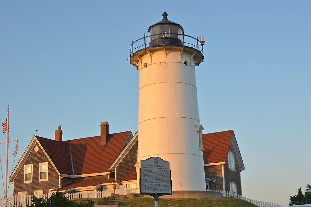 Nobska Lighthouse in Woods Hole, MA, USA