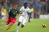 Fotball<br /> Foto: DPPI/Digitalsport<br /> NORWAY ONLY<br /> <br /> FOOTBALL - AFRICAN CUP OF NATIONS 2008 - 1/2 FINAL - 7/02/2008 - GHANA v CAMEROON - HANS ADU SARPEI (GHA) / JOEL EPALLE (CAM)<br /> <br /> Afrika mesterskapet<br /> Ghana v Kamerun