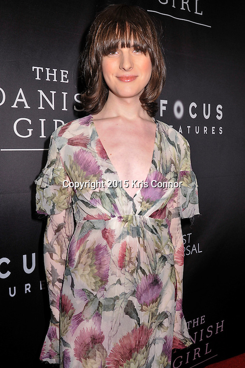 "Hari Nef, model and actress, Transparent, attends the DC premiere of Focus Features' ""THE DANISH GIRL"" at the United States Navy Memorial in Washington DC on November 23, 2015.  (Photo by Kris Connor for Focus Features)"