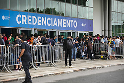 January 30, 2018 - Sao Paulo, Sao Paulo, Brazil - Jan, 2018 - Sao Paulo, Sao Paulo, Brazil - The eleventh edition of Brazil's main Internet and technology event, Campus Party Brazil, began this Tuesday (30), at the Anhembi Exhibition Pavilion, in the north of Sao Paulo. (Credit Image: © Marcelo Chello via ZUMA Wire)