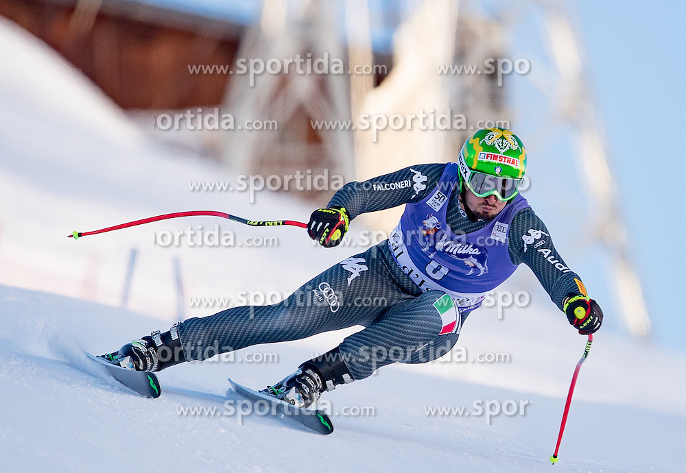 02.12.2016, Val d Isere, FRA, FIS Weltcup Ski Alpin, Val d Isere, Super G, Herren, im Bild Dominik Paris (ITA, 3. Platz) // third placed Dominik Paris of Italy in action during the race of men's SuperG of the Val d'Isere FIS Ski Alpine World Cup. Val d'Isere, France on 2016/02/12. EXPA Pictures © 2016, PhotoCredit: EXPA/ Johann Groder