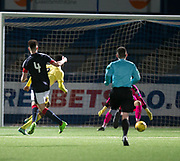 Dylan Bikey scores Hearts' winner - Dundee v Hearts in the SPFL Development League at Links Park in  Montrose : Image &copy; David Young<br />