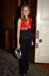 "LADY ELOISE ANSON at a party hosted by the Italian Ambassador to celebrate the forthcoming ""Made in Italy"" event at Harrods.  The party was held at the Italian Embasy, 4 Grosvenor Square, London on 6th September 2004."
