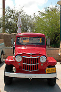 vintage truck, Tel Aviv fair grounds and convention centre, Israel,