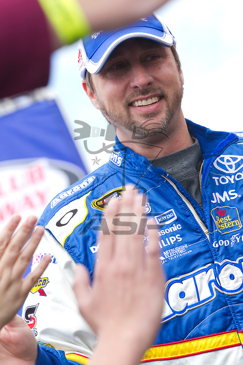 FONTANA, CA - MAR 27, 2011:  David Reutimann (00) before the start of the Auto Club 400 race at the Auto Club Speedway in Fontana, CA.