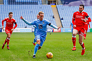 Coventry City forward Jordan Maguire-Drew (17), on loan from Brighton & Hove Albion,  in action  during the EFL Sky Bet League 2 match between Coventry City and Swindon Town at the Ricoh Arena, Coventry, England on 20 January 2018. Photo by Simon Davies.