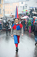 Imst Schemenlaufen, a traditional carnival held only once every four years in Imst, Tirol, Austria (31 January 2016). The Schemenlaufen is inscribed on the UNESCO list of Intangible Cultural Heritage © Rudolf Abraham