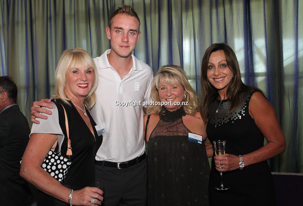 England captain Stuart Broad at the ANZ International Cricket Series Launch at Bellini, Hilton Hotel Auckland, 7 February 2013