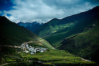 The landscape in the communities outside the capital Deqen Shangri-La.