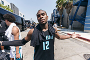 THOUSAND OAKS, CA Sunday, August 12, 2018 - Nike Basketball Academy. De&rsquo;Vion Harmon 2019 #12 of John H. Guyer HS poses for the camera after the game. <br /> NOTE TO USER: Mandatory Copyright Notice: Photo by Jon Lopez / Nike