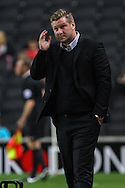 Karl Robinson Manager of Milton Keynes Dons during the Sky Bet League 1 match at stadium:mk, Milton Keynes<br /> Picture by David Horn/Focus Images Ltd +44 7545 970036<br /> 16/09/2014