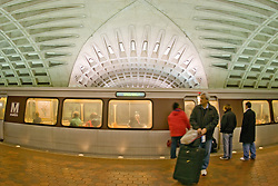 Washington DC metro train tunnel