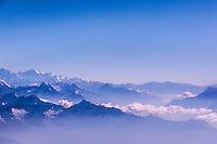 Magnificent mountain views between Kathmandu and the mighty Mt Everest.