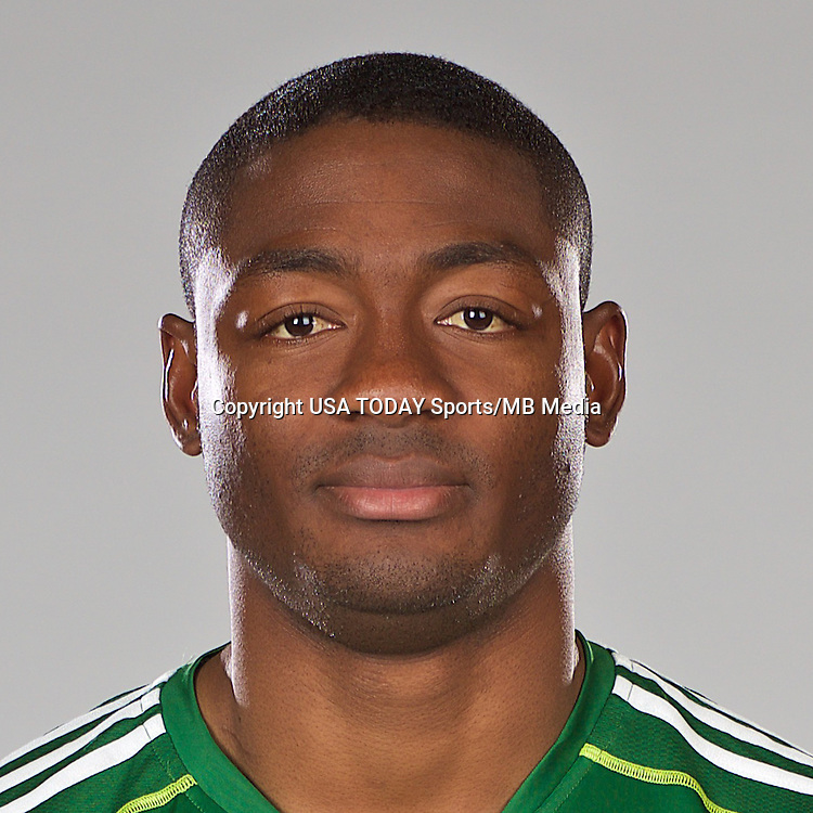 Feb 25, 2016; USA; Portland Timbers player Fanendo Adi poses for a photo. Mandatory Credit: USA TODAY Sports