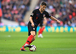 Croatia's Andrej Kramaric during the UEFA Nations League, Group A4 match at Wembley Stadium, London. PRESS ASSOCIATION Photo. Picture date: Sunday November 18, 2018. See PA story SOCCER England. Photo credit should read: Mike Egerton/PA Wire. RESTRICTIONS: Use subject to FA restrictions. Editorial use only. Commercial use only with prior written consent of the FA. No editing except cropping.