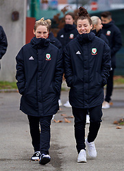 BOLOGNA, ITALY - Tuesday, January 22, 2019: Wales' Jessica Fishlock (L) and Angharad James during a pre-match walk at the team hotel in Bologna ahead of the International Friendly game against Italy. (Pic by David Rawcliffe/Propaganda)