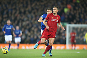 Liverpool defender Dejan Lovren (6) during the Premier League match between Liverpool and Everton at Anfield, Liverpool, England on 4 December 2019.