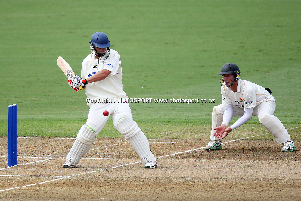 Bruce Martin batting, Plunket Shield, 4 day domestic cricket. Auckland Aces v Wellington Firebirds, Colin Maiden Park, Auckland. 23 March 2011. Photo: William Booth/photosport.co.nz