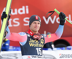 17.12.2016, Saslong, St. Christina, ITA, FIS Ski Weltcup, Groeden, Abfahrt, Herren, Siegerehrung, im Bild Steven Nyman (USA, 3. Platz) // third placed Steven Nyman of the USA during the winner Ceremony for the men's downhill of FIS Ski Alpine World Cup Saslong race course in St. Christina, Italy on 2016/12/17. EXPA Pictures © 2016, PhotoCredit: EXPA/ Erich Spiess