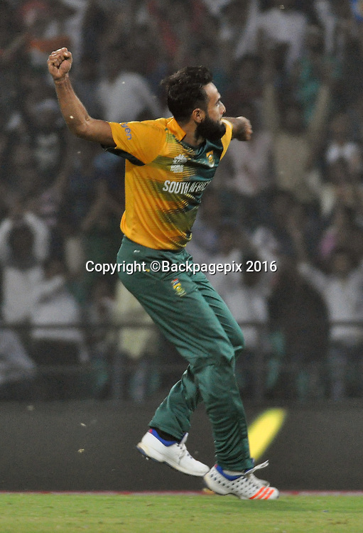 Imran Tahir of of South Africa during the 2016 ICC World T20 cricket match between South Africa and West Indies at Vidharbha Cricket Association, Jamtha, India on 25 March 2016 ©BackpagePix