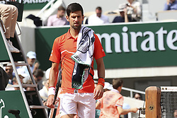 May 28, 2019 - Internationnaux de France de Tennis Roland Garros 2019. Matchs. 2019 Roland-Garros Tennis Open. Internationaux de tennis de Roland-Garros. Novak Djokovic.....240059 2019-05-27   .. Djokovic, Novak (Credit Image: © Arnal-Durden/Starface via ZUMA Press)
