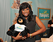 "Grammy Award winner and mom Jennifer Hudson headlines the ""Pampers Lullabies"" listening party in New York, Wednesday, June 27, 2012, to celebrate Hudson's rendition of the classic ""Lullaby and Goodnight.""  Hudson recorded the revered lullaby for exclusive free download at Pampers Facebook page, www.Facebook.com/Pampers, to honor the joyful way that parents bond with their little ones through music.  (Photo by Diane Bondareff/Invision for Pampers)"