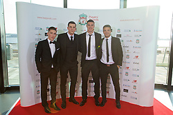 LIVERPOOL, ENGLAND - Thursday, May 12, 2016: Liverpool's Harry Wilson, Jordan Williams, Lloyd Jones and Tom Brewitt arrive on the red carpet for the Liverpool FC Players' Awards Dinner 2016 at the Liverpool Arena. (Pic by David Rawcliffe/Propaganda)