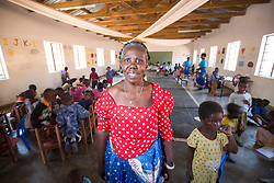 Mary Chunga, Director of Namasimba Under Six Centre. Visit to Namasimba Under 6 centre in Blantyre. Three-day trip to Malawi with the charity Mary's Meals, June 26-29. 2016.