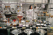 Shaman Pharmaceutical in South San Francisco, California. Processing plants for concentrated extracts for new medicines. Errolyn Casuga.  (1997)
