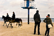 Helmut and Hedi admire the Baltic seashore at Heringsdorf on the island of Usedom in northern Germany. One of the Kaiserbaeder or Imperial Beaches, the town has been a popular destination for northern German city-dwellers for much of the country's history.