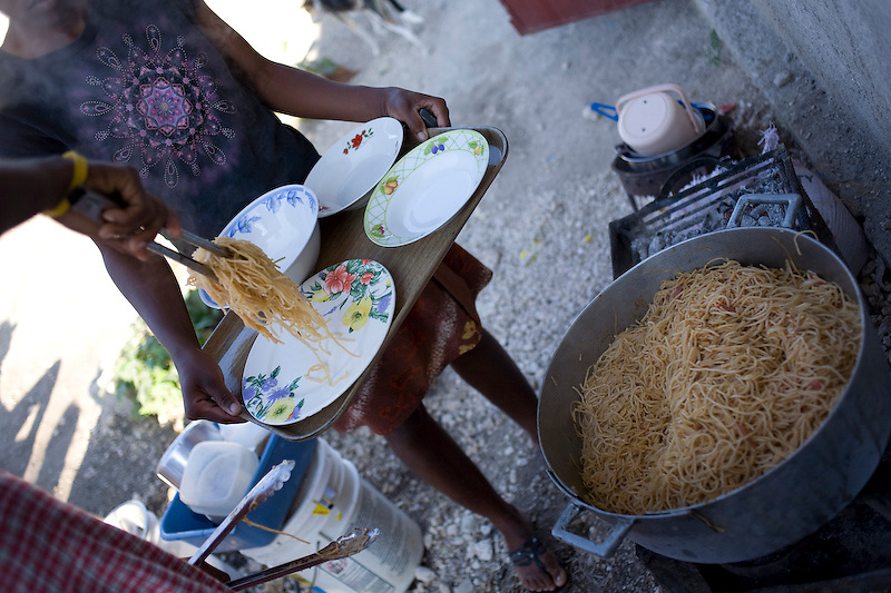 Spaghetti. Mayot, Haiti. Photo by Ben Depp 2/6/2010