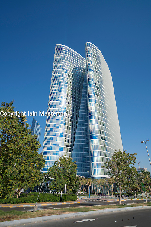 Abu Dhabi Investment Authority (ADIA) headquarters building in Abu Dhabi United Arab Emirates