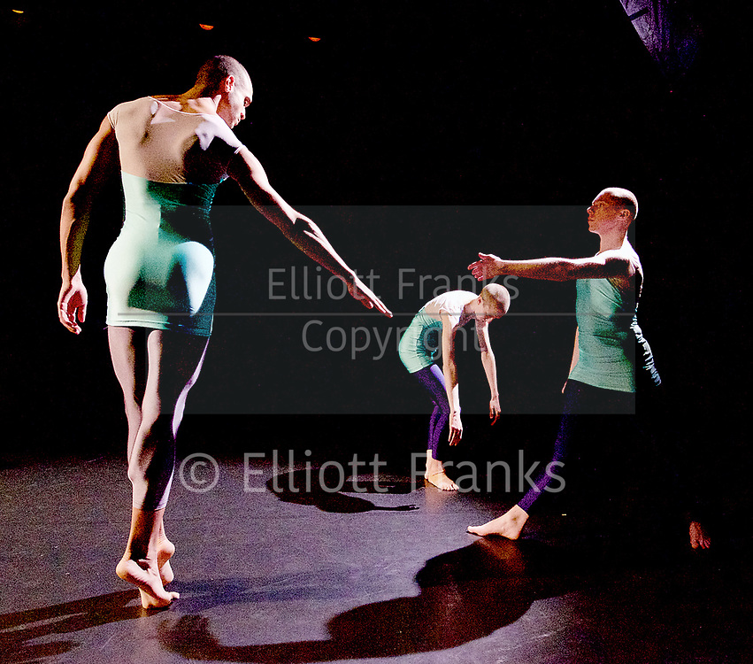 Julie Cunningham and Company<br /> Double Bill<br /> at The Pitt, Barbican Theatre, London, Great Britain <br /> 8th March 2017 <br /> Harry Alexander<br /> Julie Cunningham <br /> Alexander Williams<br /> <br />  <br /> Award-winning dancer and nominee of the 2016 Critics' Circle National Dance Award for Emerging Artist, Julie Cunningham launches her newly formed company, and makes her Barbican choreographic debut with an expressive double bill about gender and identity.<br />  <br /> Piece 1: Returning <br /> <br /> <br /> <br /> Photograph by Elliott Franks <br /> Image licensed to Elliott Franks Photography Services