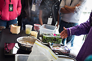 "Traditional corn is boiled during the discussion ""Indigenous Food in Wisconsin: A Look Ahead"" during the Cap Times Idea Fest 2018 at the Pyle Center in Madison, Wisconsin, Saturday, Sept. 29, 2018."