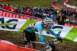 Sanne CANT of Belgium during last lap of Women Elite race, UCI Cyclo-cross World Championships at Valkenburg, the Netherlands, 3 February 2018. Photo by Pim Nijland / PelotonPhotos.com | All photos usage must carry mandatory copyright credit (Peloton Photos | Pim Nijland)