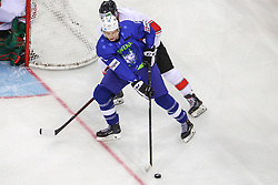 Jan Drozg of Slovenia during Ice Hockey match between National Teams of Hungary and Slovenia in Round #3 of 2018 IIHF Ice Hockey World Championship Division I Group A, on April 25, 2018 in Arena Laszla Pappa, Budapest, Hungary. Photo by David Balogh / Sportida