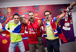 Supporters of Slovenia and  Serbia prior to the Final basketball match between National Teams  Slovenia and Serbia at Day 18 of the FIBA EuroBasket 2017 at Sinan Erdem Dome in Istanbul, Turkey on September 17, 2017. Photo by Vid Ponikvar / Sportida