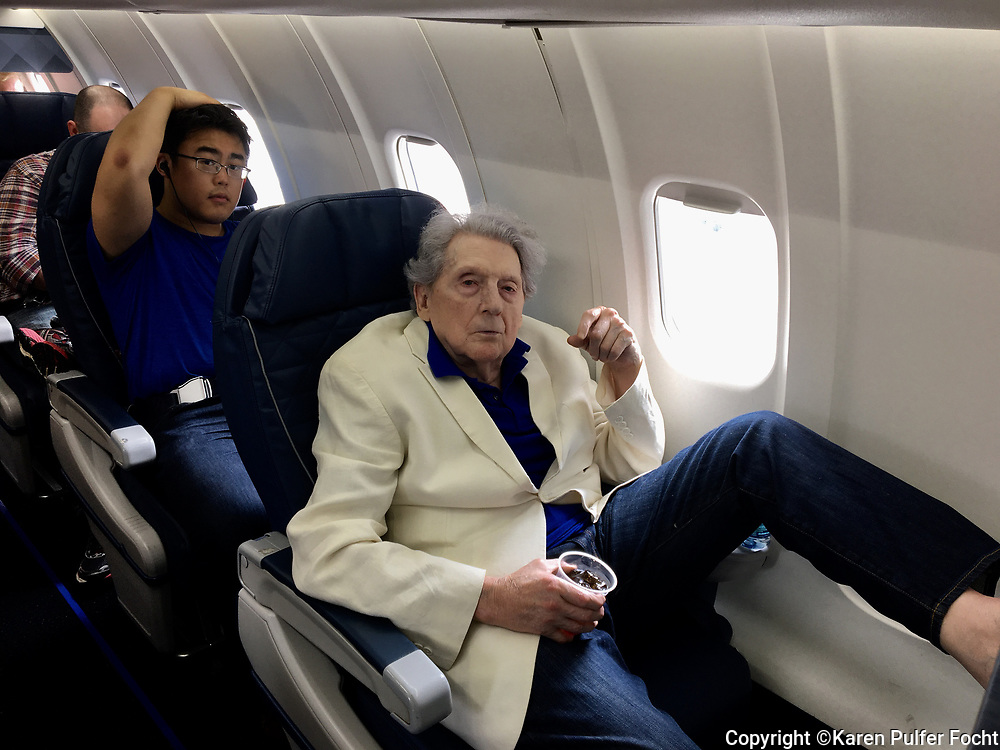 Rock and Roll Legend Jerry Lee Lewis,81, on his way to New York in Memphis, Tennessee. Lewis, who is also known as The Killer,  still performs on occasion, is the last living member of the Million Dollar Quartet, who recorded at Sun Records in Memphis, Tennessee with Sam Phillips. The other artists were Elvis Presley, Johnny Cash, and Carl Perkins.