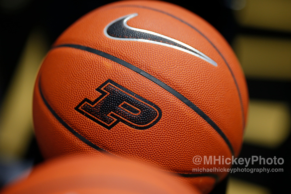 WEST LAFAYETTE, IN - DECEMBER 20: A Purdue Nike basketball is seen before the Purdue Boilermakers and Ohio Bobcats game at Mackey Arena on December 20, 2018 in West Lafayette, Indiana. (Photo by Michael Hickey/Getty Images)