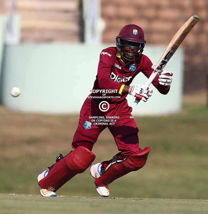 Alick Anthanaze of the West Indies Under 19s during the 1st unofficial ODI match between South Africa Under-19s and West Indies Under-19s Chatsworth Stadium, Durban 9th July 2017(Photo by Steve Haag)<br /> <br /> images for social media must have consent from Steve Haag