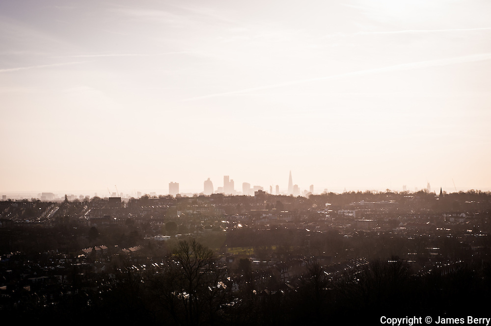 View from Alexandra Palace, London, January 2015.